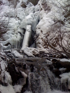 Iced Over Hunter Creek Falls
